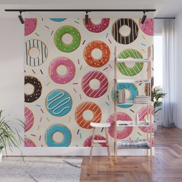 Colorful Donut Design Wall Mural
