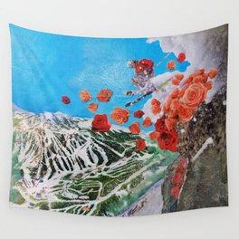 Ski Roses Wall Tapestry