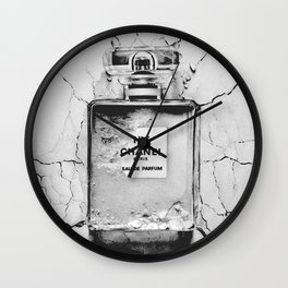 Broken perfume bottle Wall Clock
