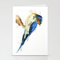 swallow Stationery Cards featuring Swallow by Meg Ashford