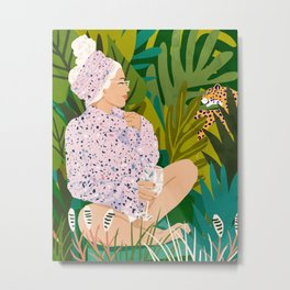 Guardian Angel #tropical #botanical #painting Metal Print