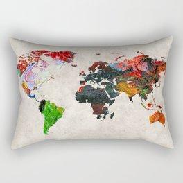 World Map 56 Rectangular Pillow