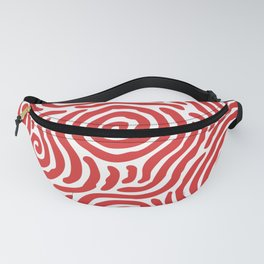 Ripple Effect Pattern Red Fanny Pack