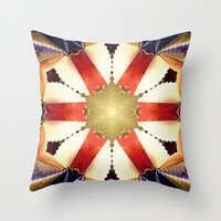 agents of shield Throw Pillows featuring Shield by Deborah Benoit