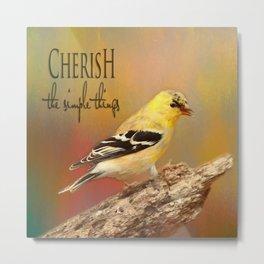CHERISH Metal Print