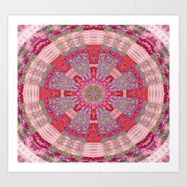 Embroidery Boho Geometry Art Print