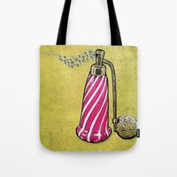 perfume Tote Bags featuring Perfume by MR. VELA