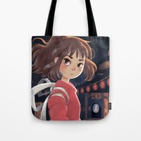 chihiro Tote Bags featuring Chihiro by Catharinix