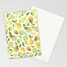 Watercolour Pears Stationery Cards
