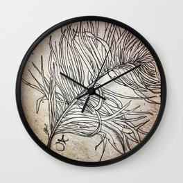 Palm Flower on Earth Day Wall Clock
