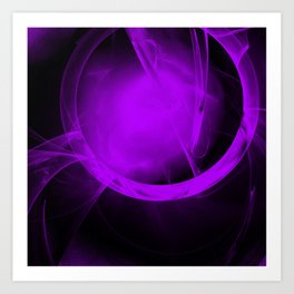 Ultra-violet gateway to a distant place Art Print