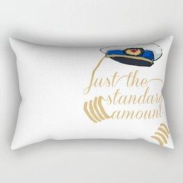 Gold Braid Rectangular Pillow