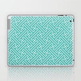 Lattice - Turquoise Laptop & iPad Skin