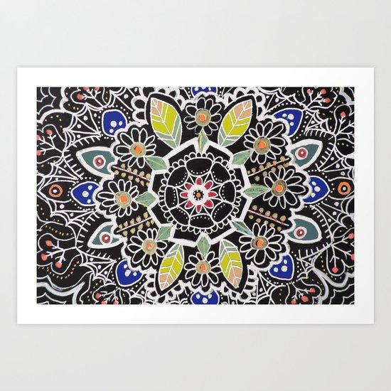 fleur indienne Art Print