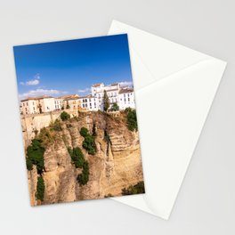 Puente Nuevo stone bridge and Pueblos Blancos in mountaintop town of Ronda in Spain Stationery Cards