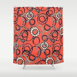 Honolulu hoopla orange Shower Curtain