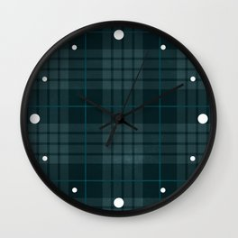 Dark Plaid Wall Clock