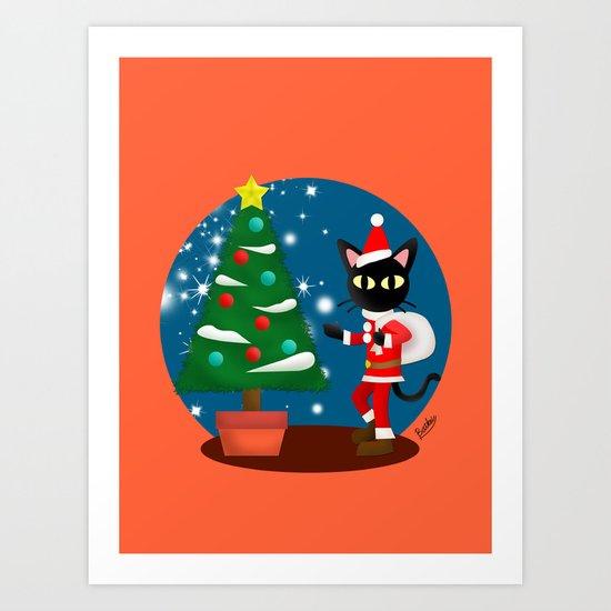 Whim's Santa Art Print