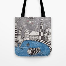 The Boy who wanted to be a Fish, or True Stories from Winter Lake Tote Bag