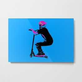 Scooter Cruiser - Scooter Boy Metal Print