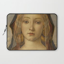 """Sandro Botticelli """"The Virgin and Child with Saint John and an Angel"""" The Virgin Laptop Sleeve"""
