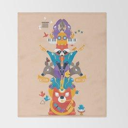 Honk Totem Throw Blanket
