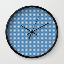 Purple-blue & pale yellow ornate pattern II Wall Clock
