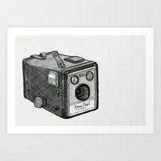 Kodak Box Brownie Camera Illustration Art Print