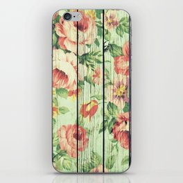 Flowers on Wood 05 iPhone Skin