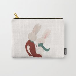Couple of rabbits in love Carry-All Pouch