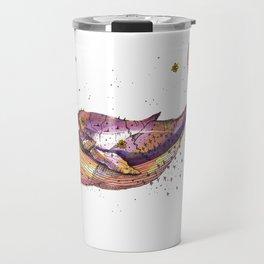 Grape Whale Travel Mug