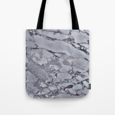 Cool Gray Marble Tote Bag