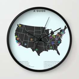 TV Show Settings Poster Wall Clock