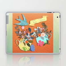 Tea Time With Flowers Laptop & iPad Skin