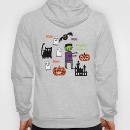 Cute Frankenstein and friends white #halloween Hoody