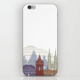 Wroclaw skyline poster iPhone Skin