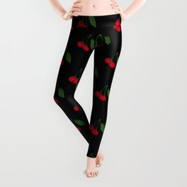 cherry vector 2 Leggings