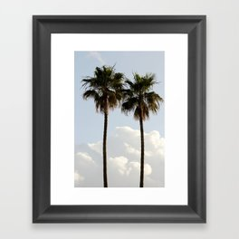 Palms In The Clouds  Framed Art Print