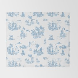 Toile du Force Throw Blanket