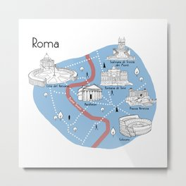 Mapping Roma - Original Metal Print
