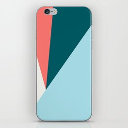 Blue Red Triangles iPhone Skin