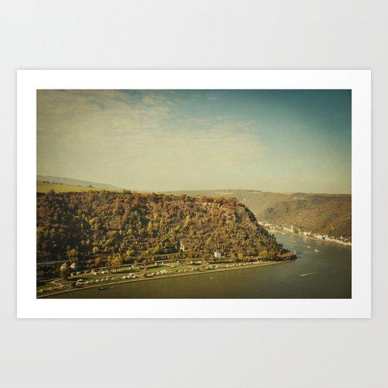 Rhine romantics Art Print
