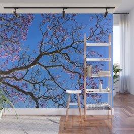 Blue Jacaranda 2/3 Wall Mural
