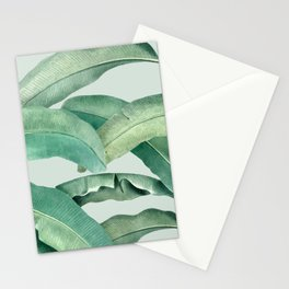 banana leaves light green Stationery Cards