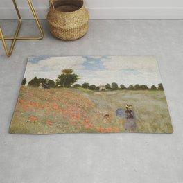 Poppies By Claude Monet Rug