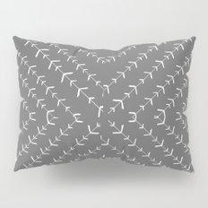 Gray and white varied vines Pillow Sham