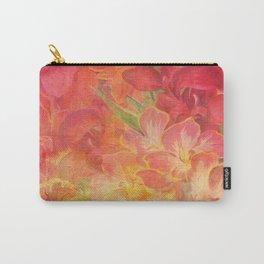 Floral Pink Flowers Vintage Pattern Romantic Bouquet Carry-All Pouch