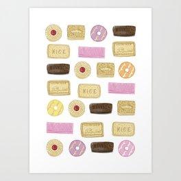 A TASTE OF CHILDHOOD: BISCUITS Art Print