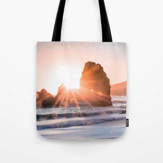 Sea light rock 4 Tote Bag