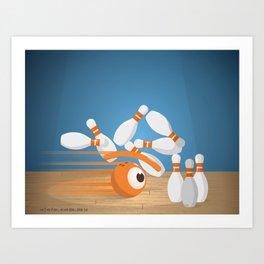 bowlling eye Art Print